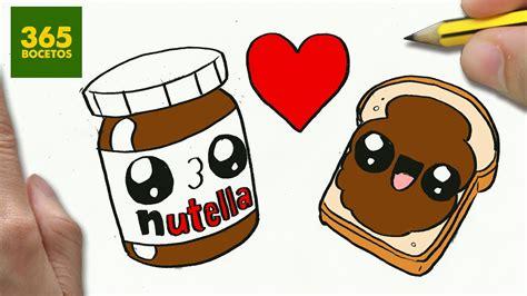 imagenes kawaii nutella como dibujar nutella y pan enamorados kawaii paso a paso
