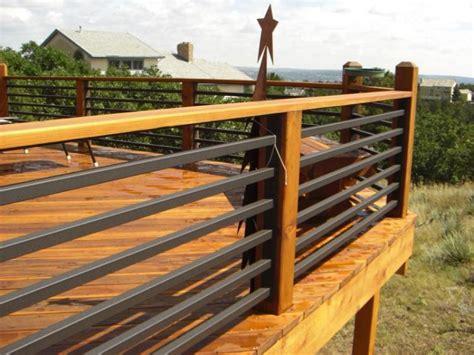 horizontal metal railing concept and design of horizontal deck railing for