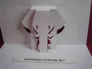 Paper Craft Elephant - a cards fold and pop up on pop up cards pop