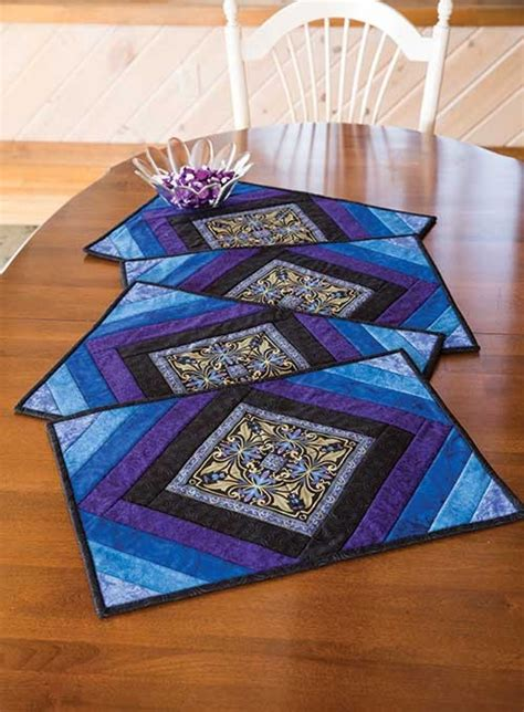 free printable quilted placemat patterns medallion place mat kit crafty pinterest keepsake