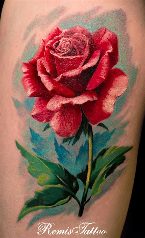 water color rose tattoos realistic color by remistattoo on deviantart