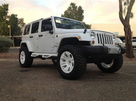 white jeep white jeep white wheels vision board cars