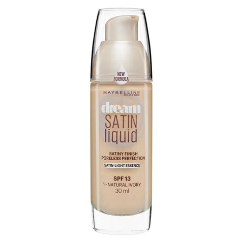 maybelline satin liquid foundation 01 ivory