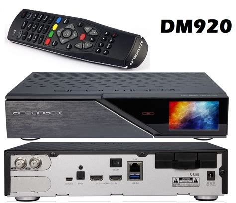 Receiver Multi Hd dm920 uhd 4k receiver dvb s2 dual sat tuner 2160p dm