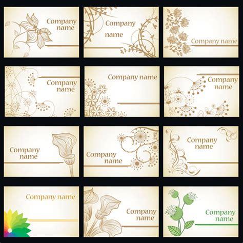 Visitenkarten Hintergrund Vorlagen Kostenlos by Einfache Weise Blumen Karte Vorlage Vektor Material