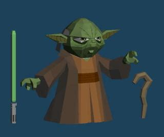 Yoda Papercraft - wars grand master yoda po archives