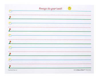 printable lined paper for pre k pre k handwriting paper teacher stuff pinterest