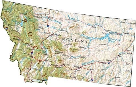 map montana map of montana mt state map