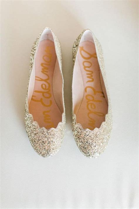 Gold Flat Bridal Shoes by 20 Adorable Flat Wedding Shoes For 2018 Emmalovesweddings