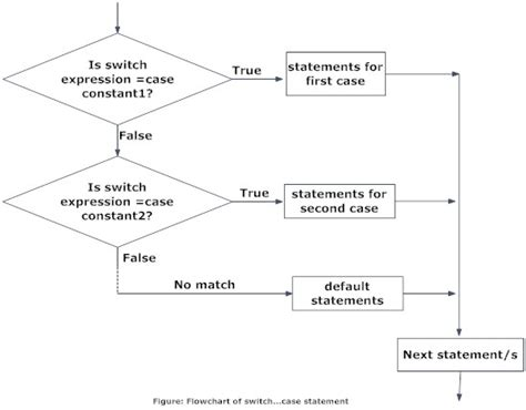 flowchart of switch in c c programming switch statement c tutorial