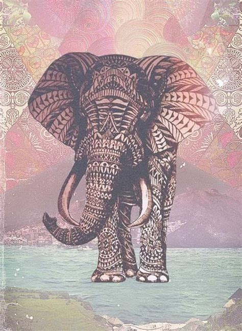 pattern elephant art paz tumblr buscar con google los colores alegran la