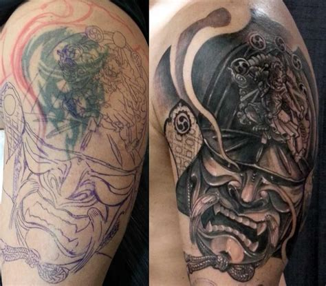 tattoo cover up with another tattoo cover up by csaba samurai ink