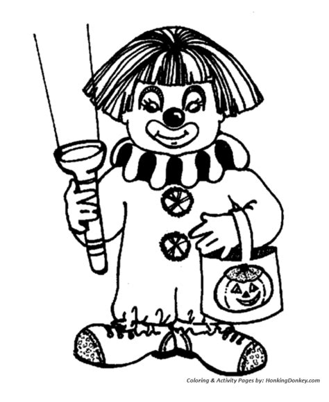 halloween costume coloring pages halloween clown costume