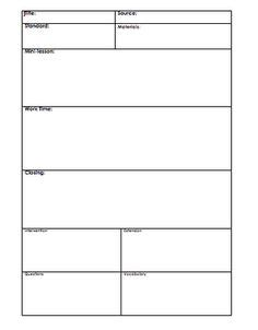 army lesson plan template lesson plan template printable plan well organised