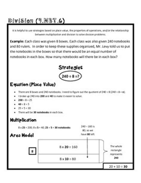 4 Nbt 4 Worksheets by 4th Grade Math Common Worksheet 4 Nbt 6 By