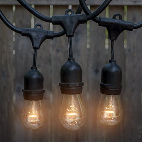 Commercial Grade String Lights Outdoor Outdoor Indoor Edison Style String Lights Commercial Grade Heavy Duty Ebay