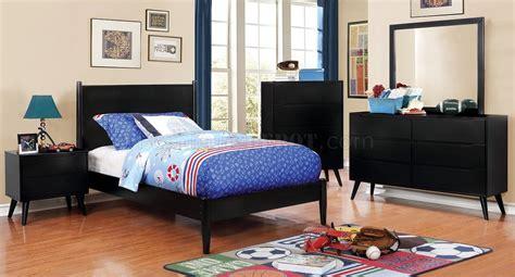 black kids bedroom furniture lennart cm7386bk t 4pc kids bedroom set in black w options