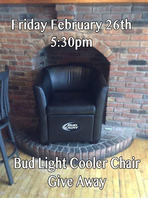 Bud Light Giveaway - bud light cooler chair giveaway ebenezer ale house