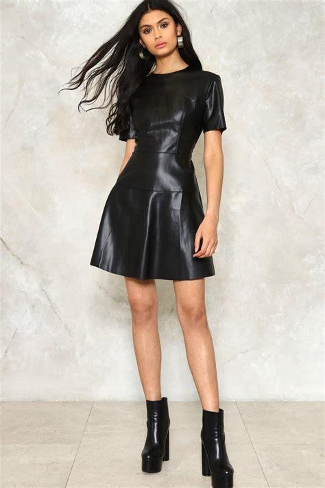 Melisa Dress vegan leather dress shopperboard