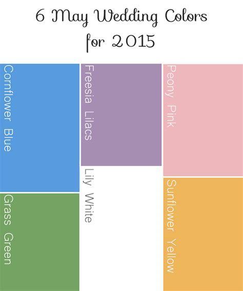 6 Beautiful & Inspiring Wedding Colors For May 2015