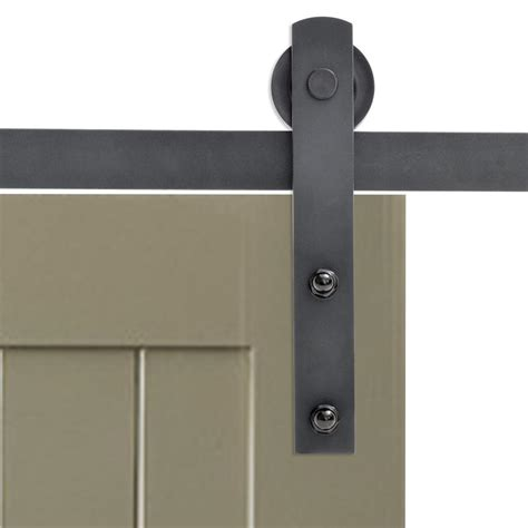 Calhome 72 In Matte Black Classic Straight Strap Barn Black Barn Door Hardware