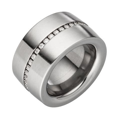 Ring Jalan 4 Cm ring aus edelstahl 1 4 cm mit funkelnder jewelchain