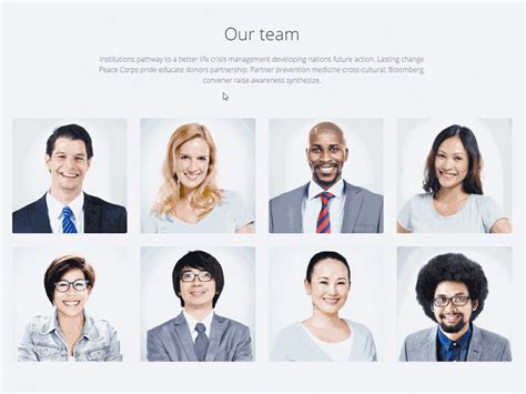 Team Section Animation Holy Wood Landing Page By Lumberjacks Dribbble Our Team Website Template