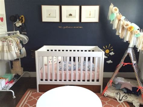 Coral And Navy Nursery by Vote May Room Finalists 2014 Project Nursery
