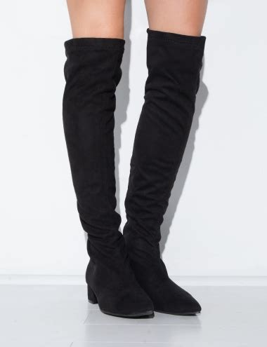 black suede thigh high boots trendy boots