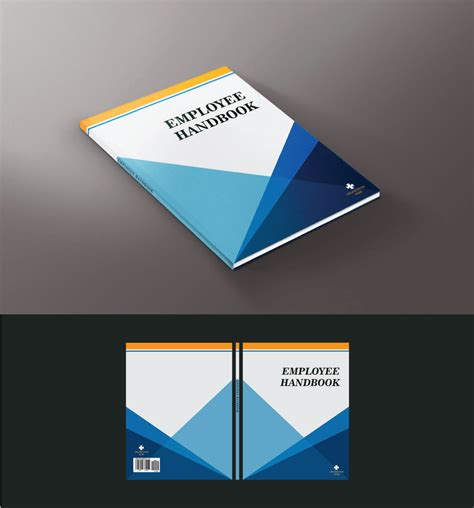 Modern Bold Education Book Cover Design For College Internship Program Cip By Potua Bd Employee Handbook Cover Design Template