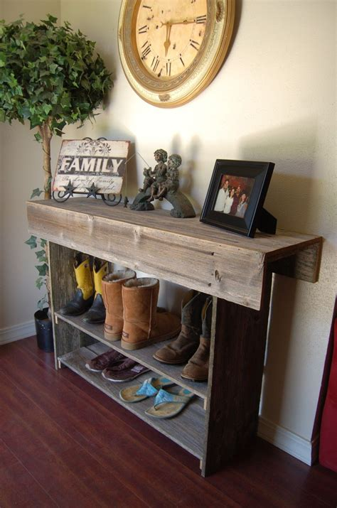farmhouse console table large console table rustic wood