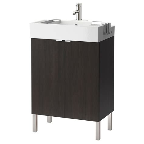 black bathroom sink cabinet lill 197 ngen washbasin cabinet with 2 doors black brown 60x41x92 cm ikea