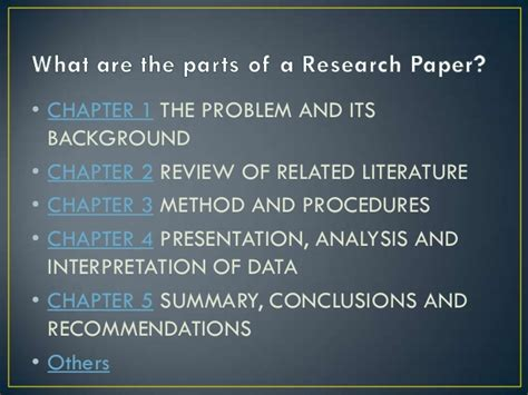 parts of research paper 5 parts of research paper