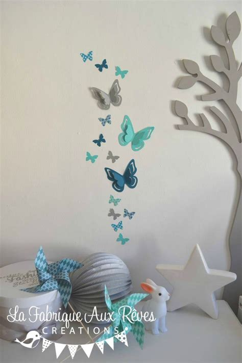 stickers papillon chambre bebe 38 best images about d 233 coration chambre enfant b 233 b 233 turquoise gris blanc on grey