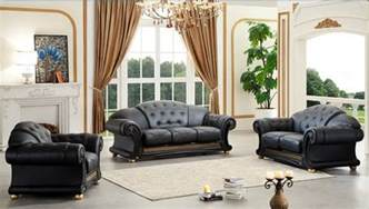 versace wohnzimmer versace classic style living room set in black leather