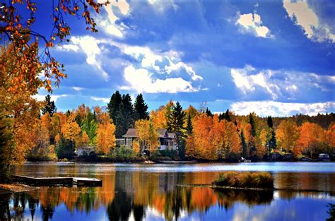 Dusk Autumn Forest Lake Water Free Images Tree Water Nature Forest Cloud Sky
