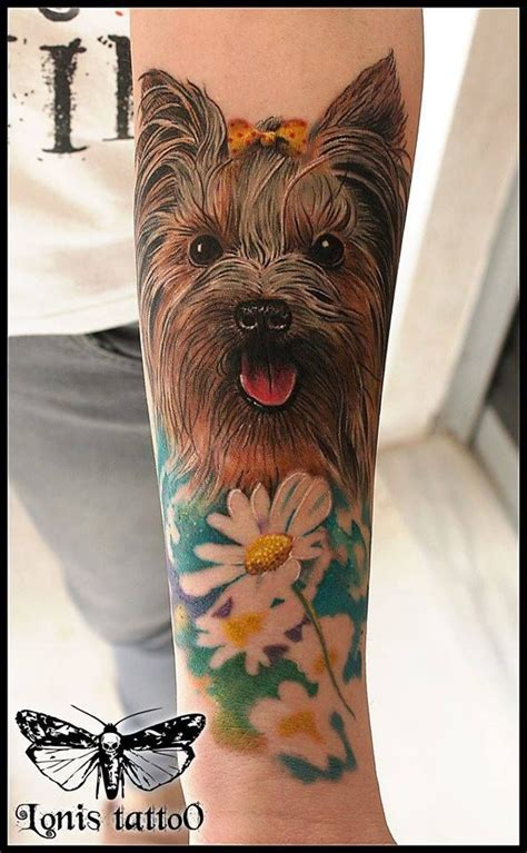 yorkie tattoo pictures yorkie tattoo yorkshire terrier by lonis 3rd prize best of