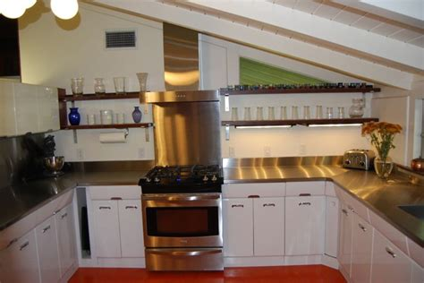 refinished metal cabinets kitchen
