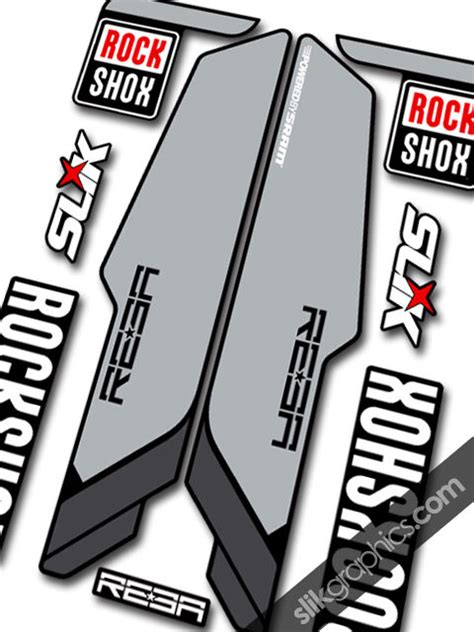 Gold Ochsen Aufkleber by Rockshox Reba 2013 Style Decals Black Forks Slik Graphics
