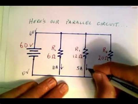 what direction do resistors go calculating current in a parallel circuit mov