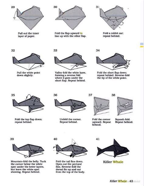 Origami Orca - origami orca part 3 of 3 make sure to