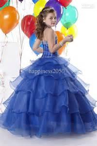 Christmas royal blue wedding flower girl dress girl s skirt birthday