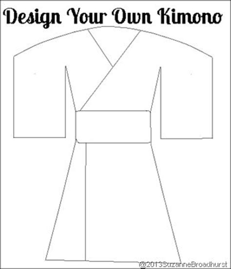japanese kimono coloring page design your own kimono gt learning about japan at home