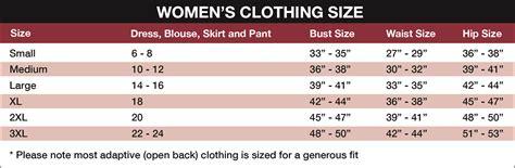 clothing size chart www imgkid the image kid
