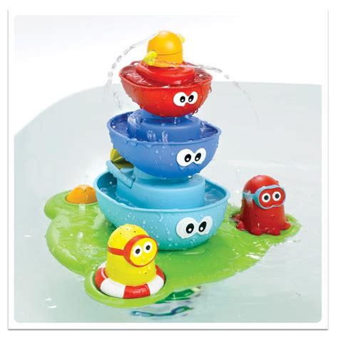 bathroom toys stack n spray tub fountain bath toy educational toys planet