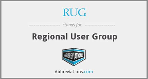 rug abbreviation what does rug stand for