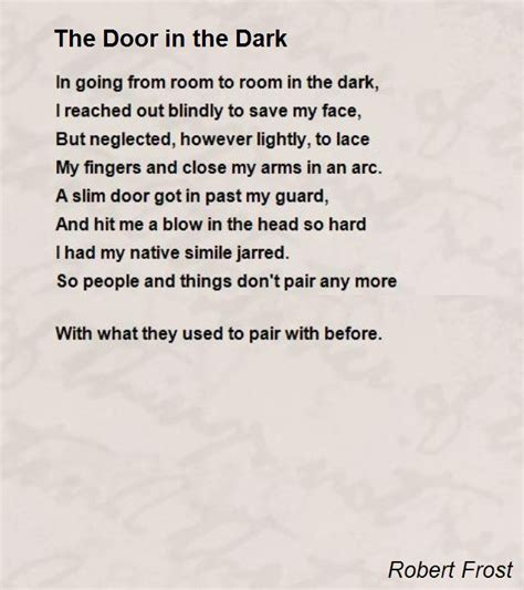 poem i am in the next room the door in the poem by robert poem