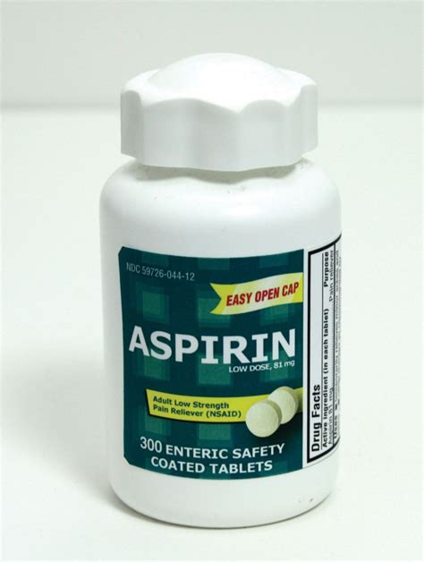 aspirin dosage aspirin low dose enteric coated tablet aspirin ec 81mg tab easy open 300 bt bottle