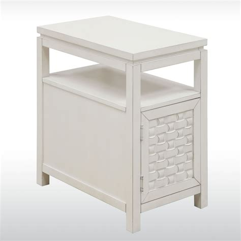 White Side Tables Darcy White Wooden Side Storage Table