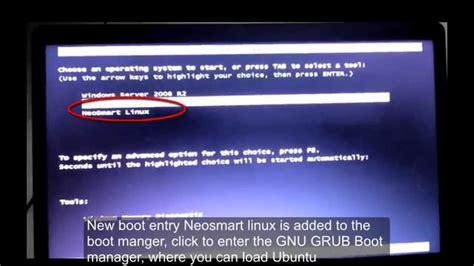 ubuntu boot menu not visible after installing windows